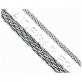 Câble 6mm acier galvanisé