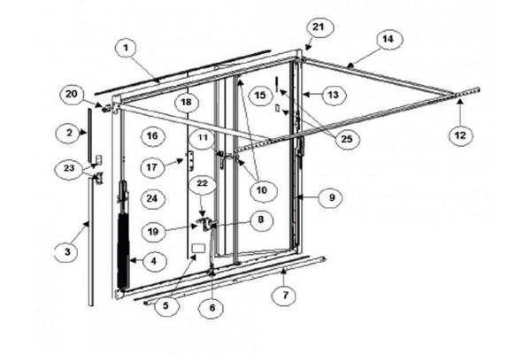 Vente en ligne de pi ces d tach es pour porte delliso - Pieces detachees pour porte de garage basculante ...