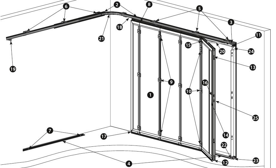 Toutes les pi ces d tach es pour porte de garage novoferm for Notice de pose porte de garage sectionnelle novoferm